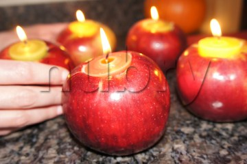 Place apples on countertop or decorate dining room table