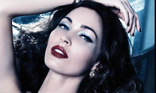 megan fox red and plums lips fall 2012 beauty trends