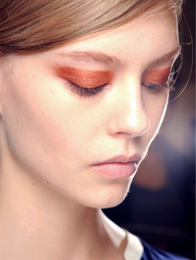 Copper Eyeshadow Smokey Eye at Chloe Spring 2013 Paris Fashion week