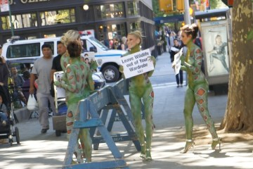 PETA People: The Craziest Thing At NYFW Spring 2014 Today
