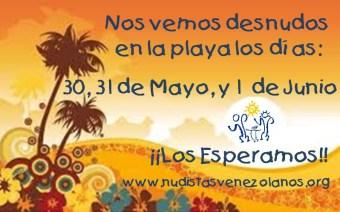 Reencontrarme nuevamente con mi hermosa playa nudista y con mi gente de Nudistas Venezolanos, hizo que florecieran mis emociones de alegría, buena energía y felicidad. Más aún conocer nuevos miembros que, además, son muy jóvenes y comparten nuestra filosofía naturista de manera categórica y respetuosa. http://nudistasvenezolanos.org/playa-nudistas-venezolanos/