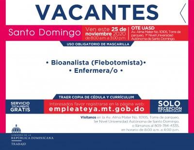 Ministerio de Trabajo tiene estas nuevas vacantes