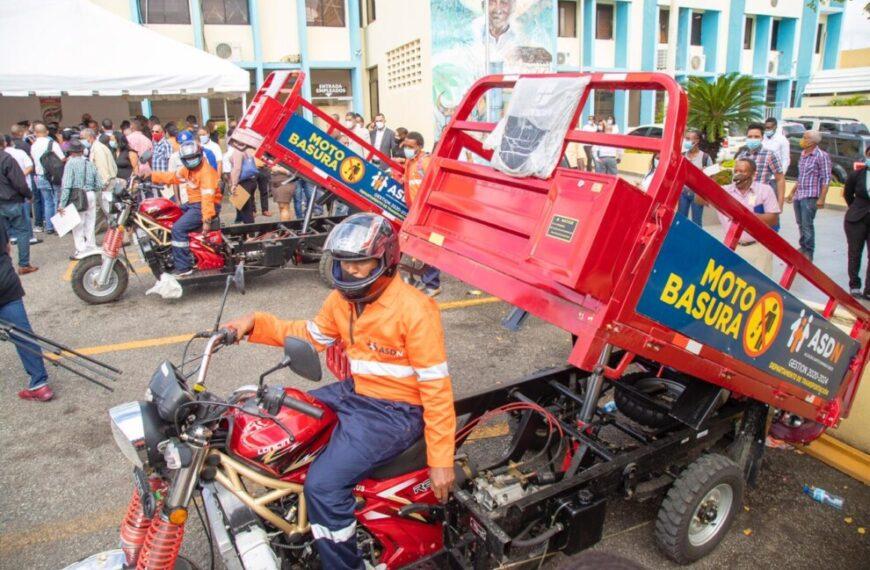 ASDN implementa plan para recoger basura en motocicletas