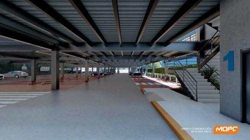 Así planean construir los parqueos públicos Parquéate _RD