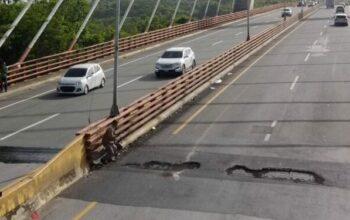 Obras Públicas cierra puente Mauricio Báez en SPM por reparación