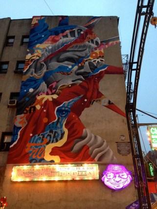 New York graffiti in Little Italy