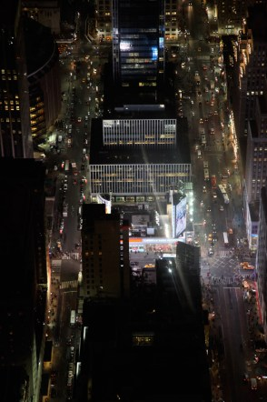 Night time view from the Empire State Building