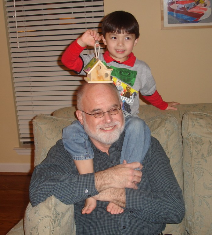 David Jauss and grandson Galen