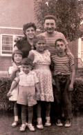 (Left to right) Arlene, Hank, Barbara, and Jimmy, mother Lillian, father Gennaro.