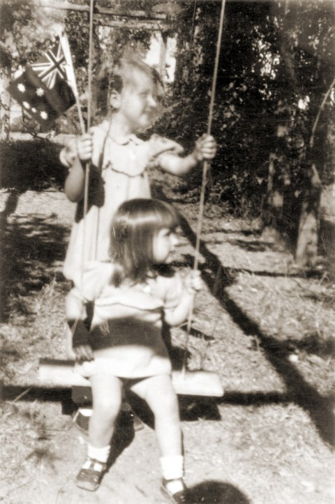 C_On the swing in 1948 - my sister pushing (Insert before 'Going to Town')