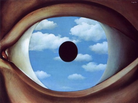 Magritte's The False Mirror