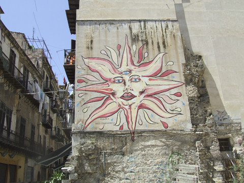 Palermo wall mural