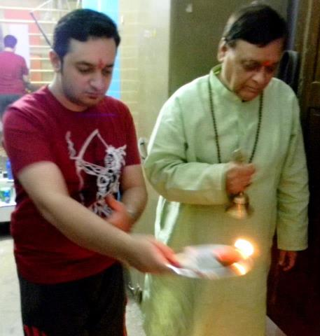 Doing Diwali Pooja With Dad.