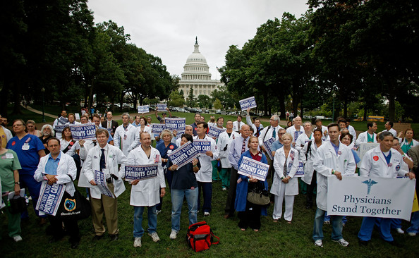 2009 physicians protest health care reform