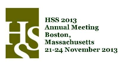 Conference Report on History of Science Society 2013 Annual Meeting