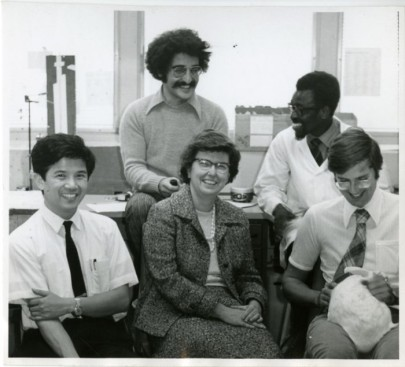 """Lab group at McGill University, Montreal, Canada,"" 1972. (Center for the History of Medicine: OnView)"