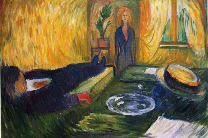 "Edvard Munch's ""The Murderess, 1906 (oil on canvas). (WikiArt 
