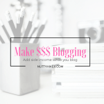 Make $$$ Blogging
