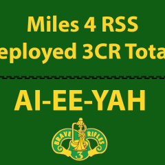 Deployed 3CR RSS Miles – Miles logged by those that are deployed