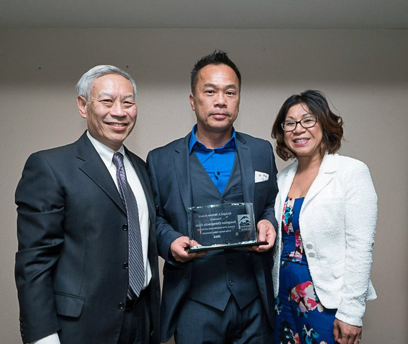 From left: Wayne Lau, Dr. Andy Chiem and wife, Jennie Quach. (Photo provided by RVCDF)