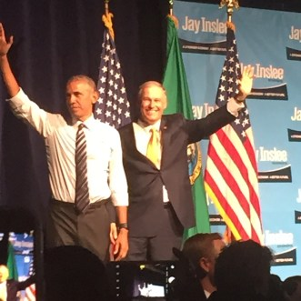 Obama and Jay Inslee (Photo provided by Mark Inslee)