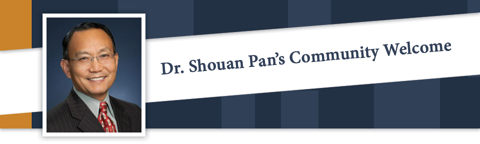 Dr. Shouan Pan's Community Welcome