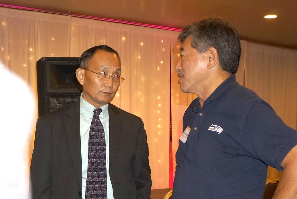 Dr. Shouan Pan and State Sen. Bob Hasegawa