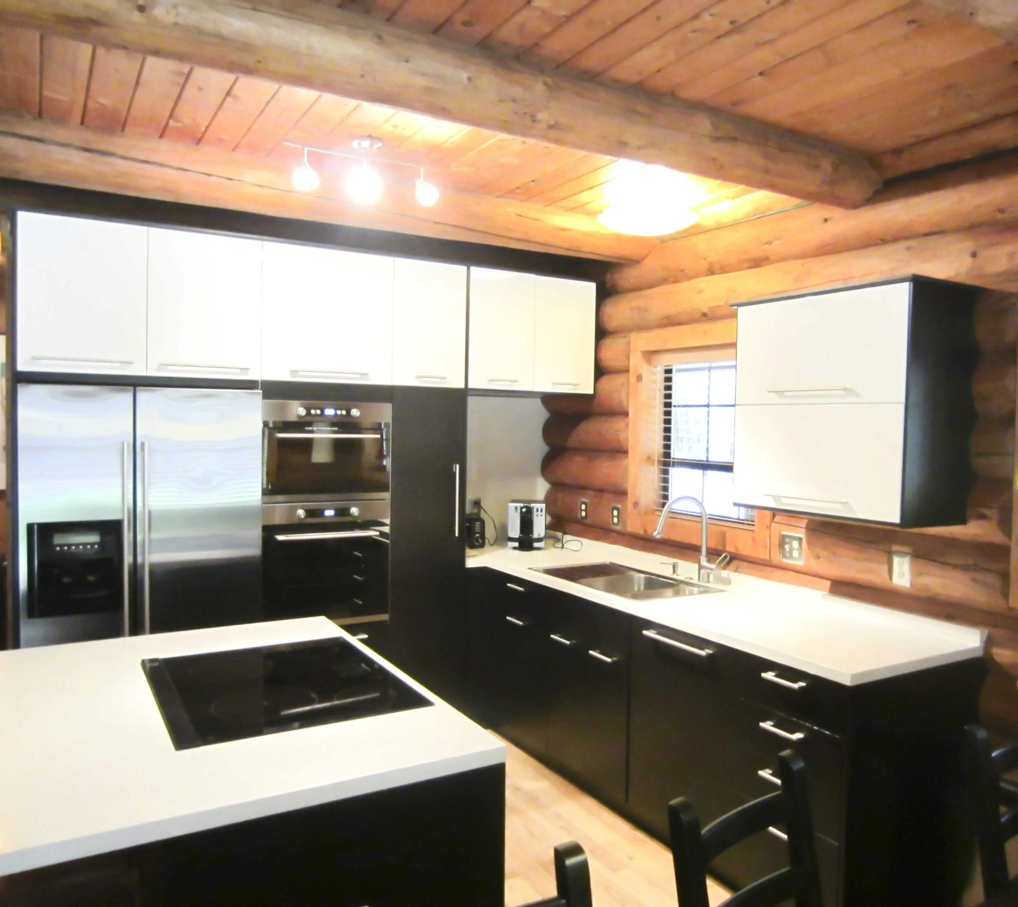 installing ikea cabinets in a log home ikea kitchen remodel This