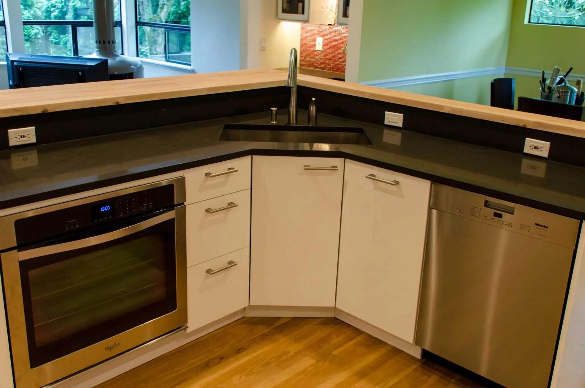 an ikea kitchen that pops kitchen sink cabinets Kitchen Kirkland 5