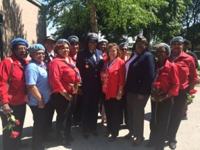 NWVU and keynote speaker Zeita Merchant, Commander, United States Coast Guard Marine Unit Chicago, at the annual Memorial Day Ceremony at Dignity Memorial Evergreen Cemetery.