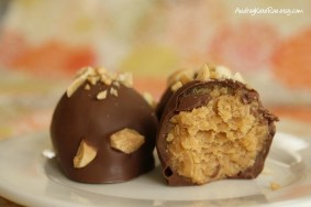 Chocolate-Covered Peanut Butter Cake Balls