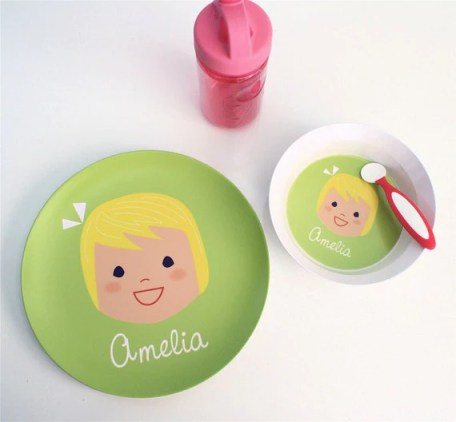 Custom Personalized Plate and Bowl Set - Girl or Boy