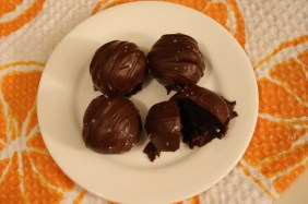 Dark Chocolate Orange Espresso Cake Balls
