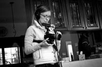 Michaela documents behind-the-scenes action