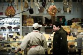 Shopping at the cheese counter