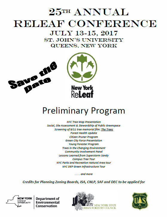 Save the Date & Prelim Program 2017 ReLeaf