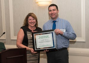 Brian Liberti, City Forester for Rochester, receives the Urban Forestry Partnerships Award for his outstanding work in the City of Rochester, his previous efforts in Syracuse, as a part of the NYS Urban Forestry Council and partnering with NY ISA, which he is also member of.