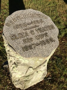 This couple lived until the late 1890s and thus was influenced by Victorian-era gravestone symbolism.