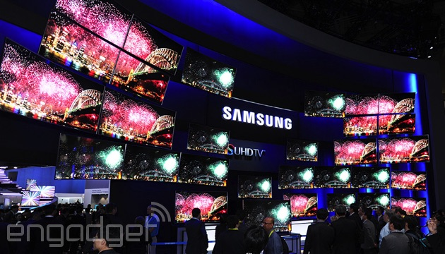 Samsung's CES 2015 booth: loads of TVs