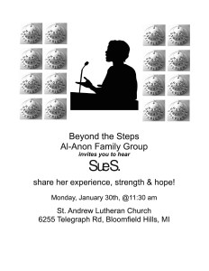 Beyond the Steps Family Group Open Talk @ St. Andrew Lutheran Church | Bloomfield Hills | Michigan | United States
