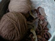 Wool dyed w pecan