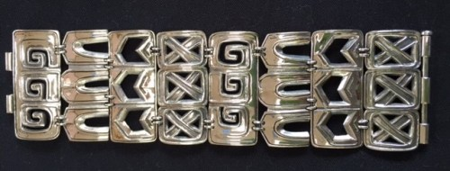 "Bracelet, slide clasp, 7"" long x 2"" wide. $665 USD plus shipping + insurance"