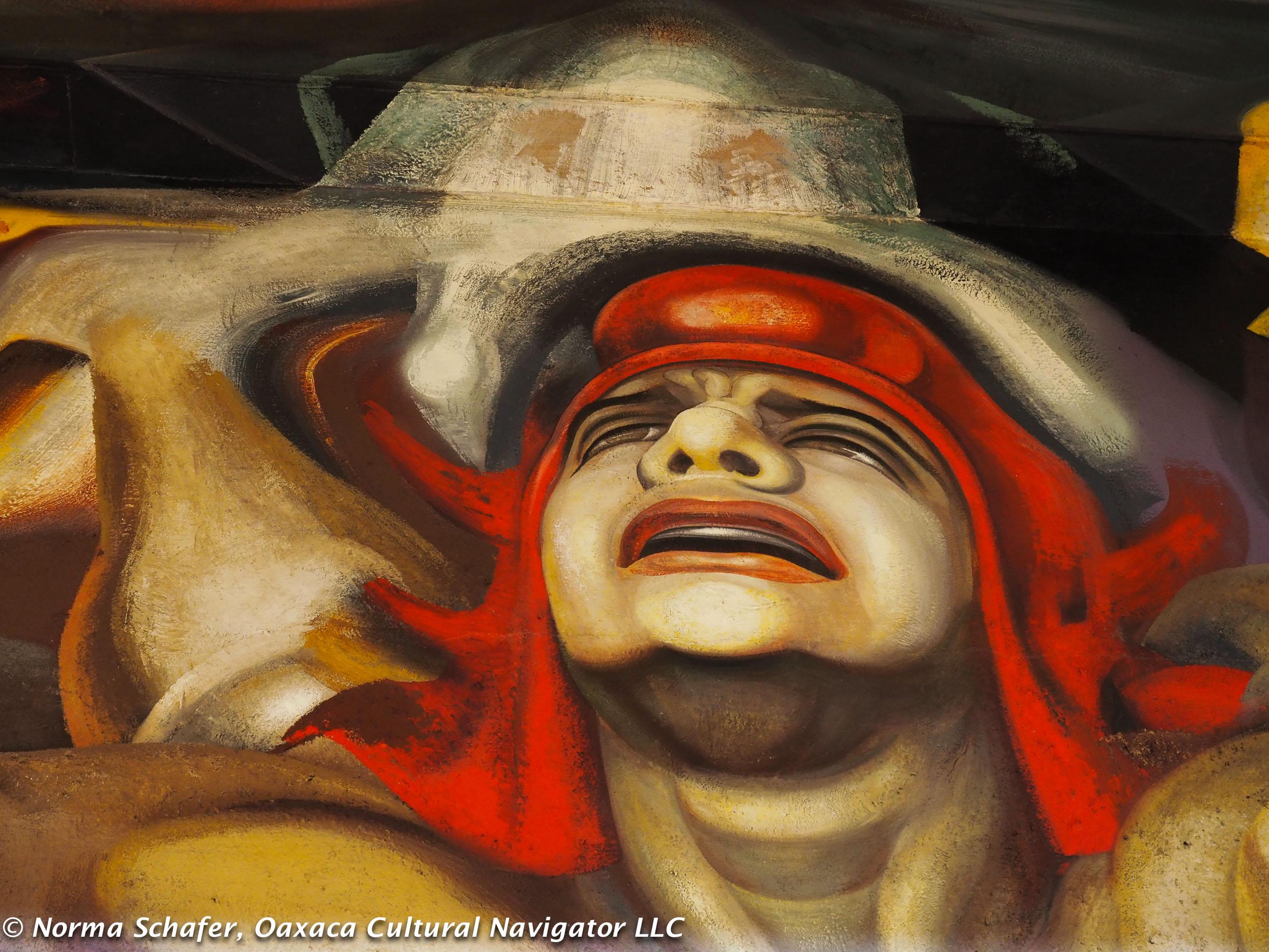 David Alfaro Sequieros, Rivera rival, painted this mural at Palacio Bellas Artes