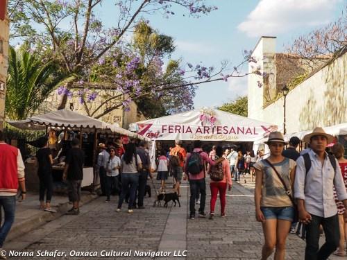 Artisans Fair, Andador, Macedonio Alcala, Oaxaca