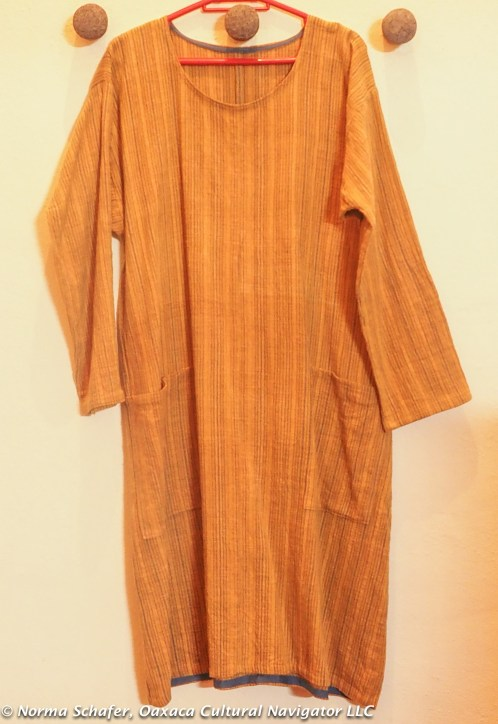 Size M/L. A-line dress made with Khadi Oaxaca handspun + woven cotton. $145 USD