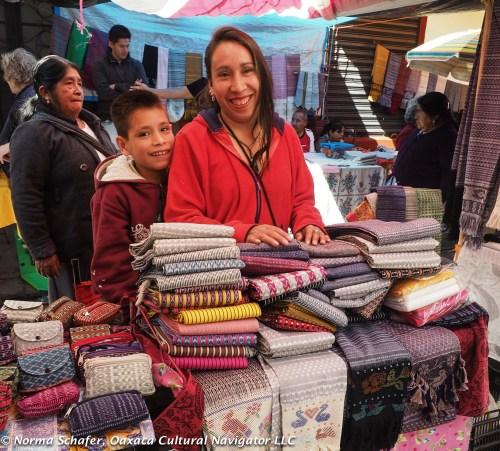 At the Sunday rebozo market, Tenancingo