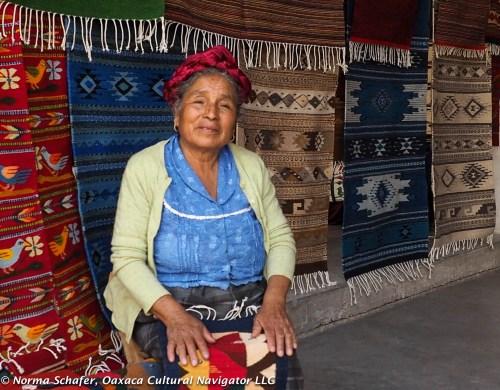Weaver in the Teotitlan del Valle rug market