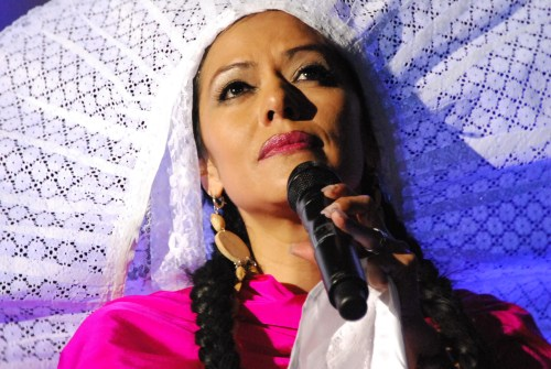 Lila Downs in concert, Oaxaca, Mexico