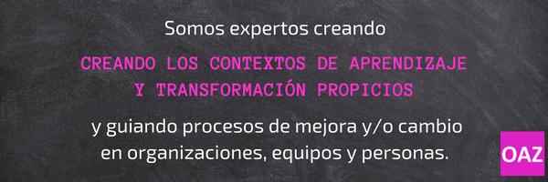 contextos de aprendizaje y transformacion que faciliten el cambio