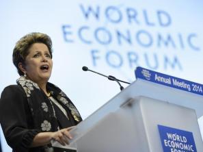 Dilma discursa no Fórum Econômico Mundial, em Davos, na Suíça